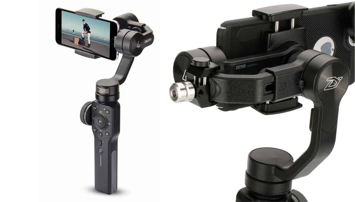 zhiyun-smooth-4 gimbal front and rear view